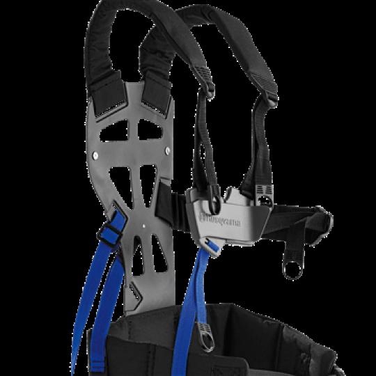 Balance X La cinghia ergonomica con ampio supporto posteriore, spallacci e cintura in vita distribuisce il carico su tutto il corpo. Harness Balance X 2008